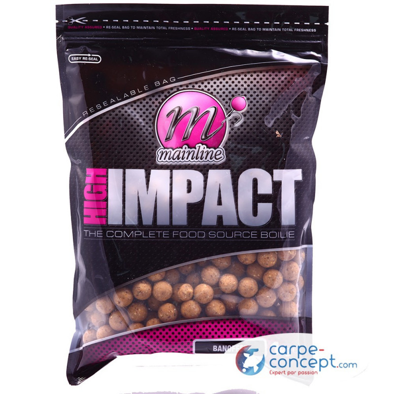 MAINLINE High impact boilies 16mm 1kg Banofee