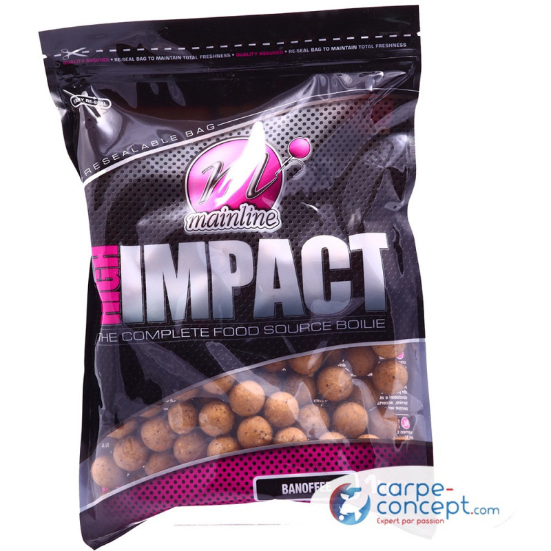 MAINLINE High impact boilies 20mm 1kg Banofee