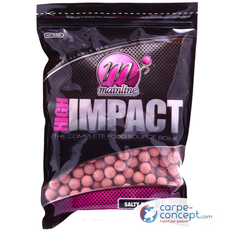 MAINLINE High impact boilies 16mm 1kg Salty Squid