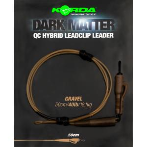 KORDA Dark Matter Leader QC Hybrid Clip 1m 1