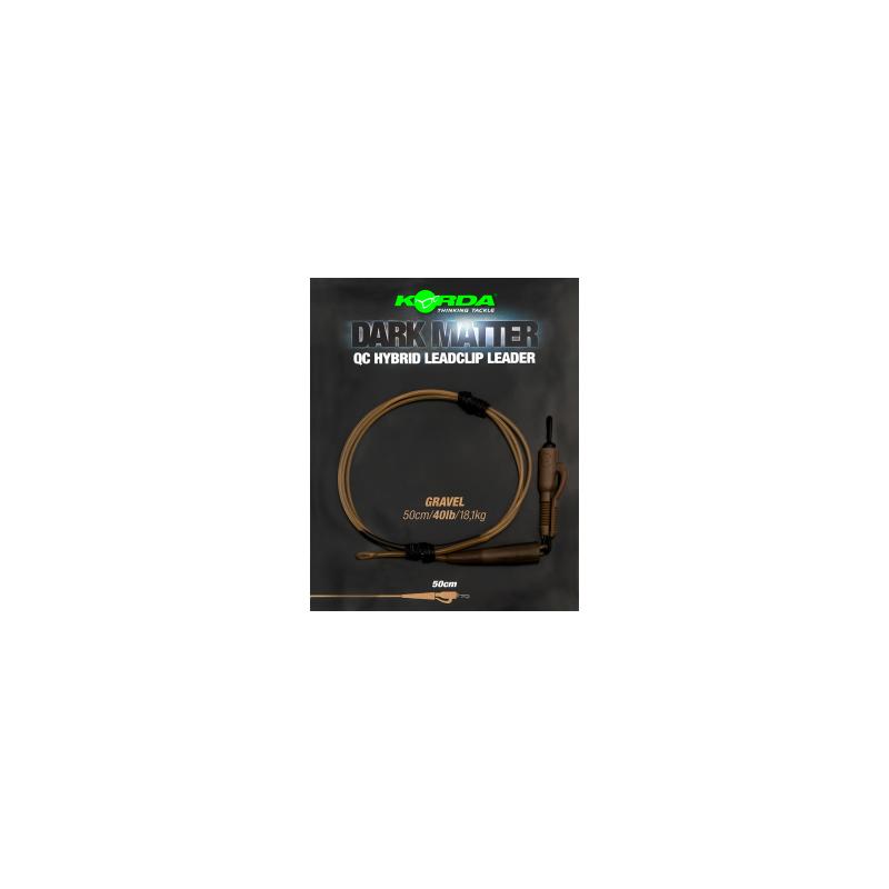 KORDA Dark Matter Leader QC Hybrid Clip 1m