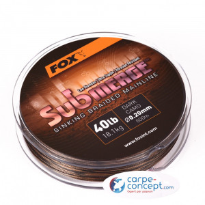 FOX Tresse Submerge dark camo 25lb 600m