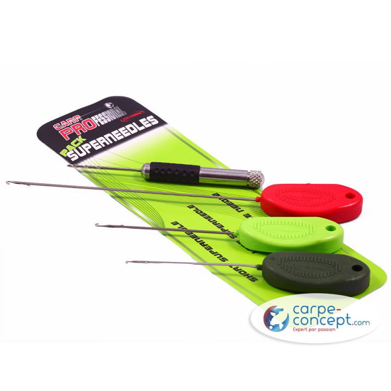 FUN FISHING Pack Superneedles N°1 - 4 Models (Rouge. Verte Fluo. Kaki et Vrille) - Vert - Rouge - kaki