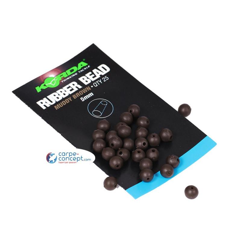 KORDA Rubber Bead 5mm Brown