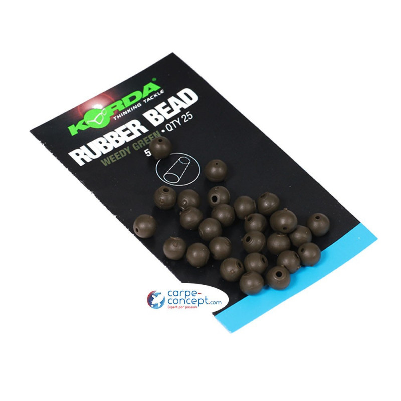 KORDA Rubber Bead 5mm Green