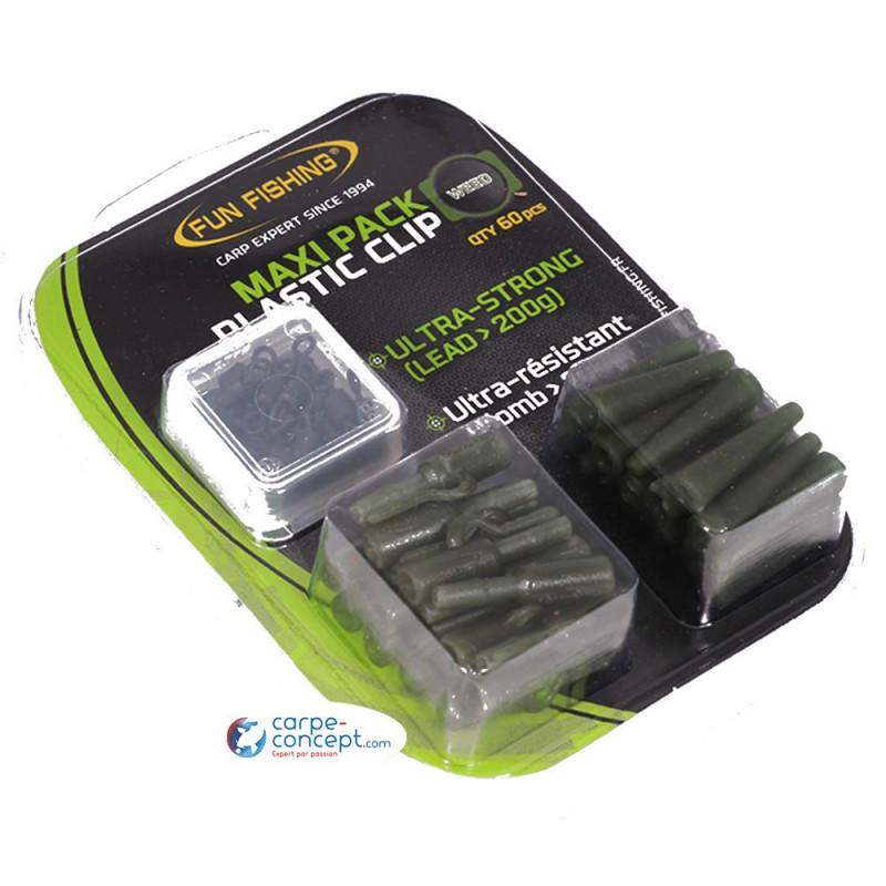 FUN FISHING Maxi pack plastic clip x20 weed