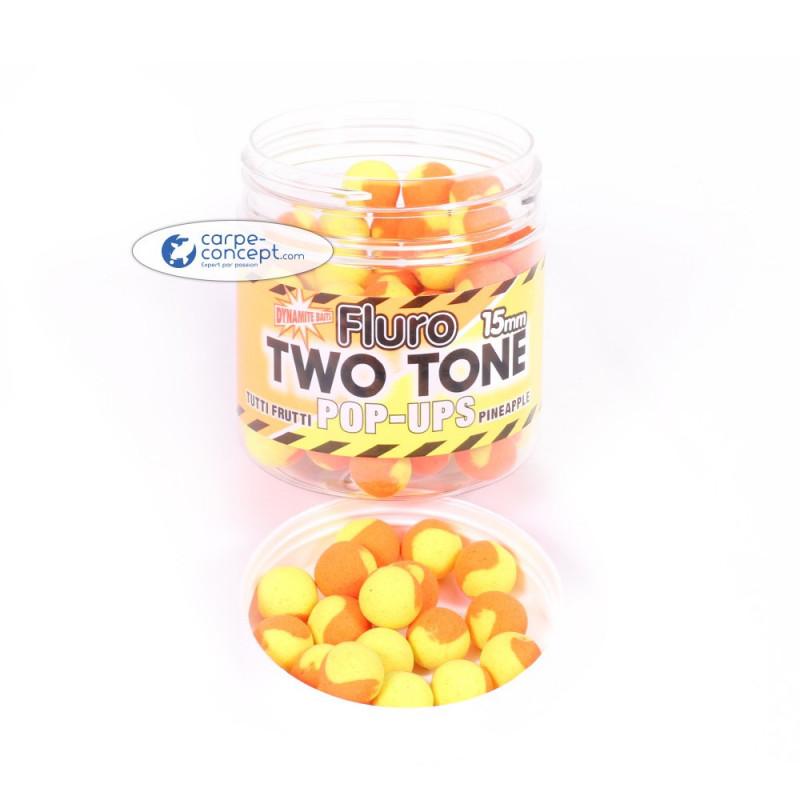 DYNAMITE BAITS Fluro 2 Tone pop-up Tutti-Frutti & Pineapple 15mm