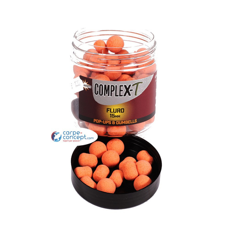 DYNAMITE BAITS Fluro pop ups and dumbells complex-t 15mm