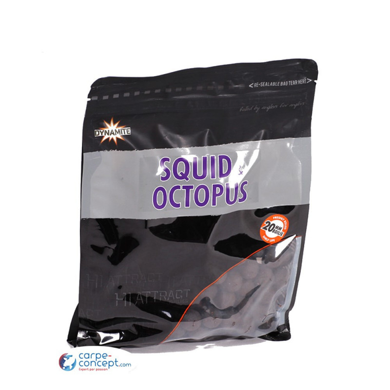 DYNAMITE BAITS Hi-attract boilies squid & octopus 15mm 1kg