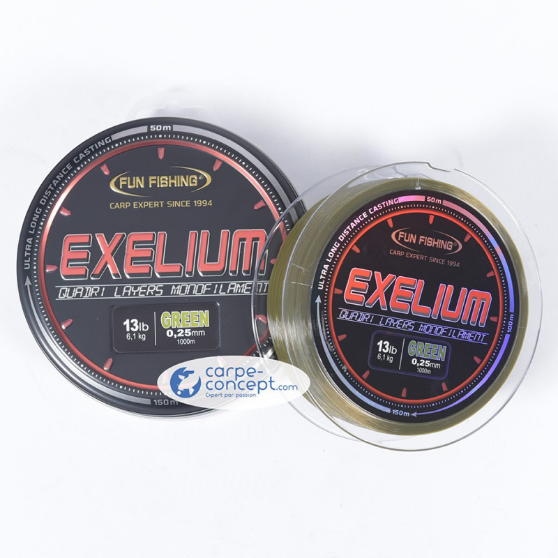 FUN FISHING Nylon Exelium green 0.25mm