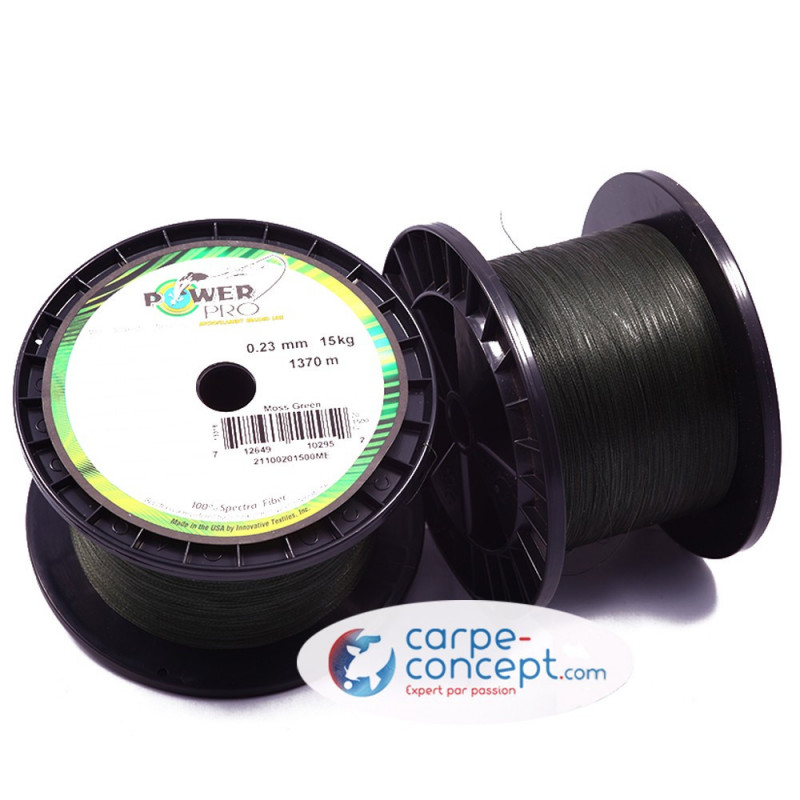 POWER PRO Tresse Green 0.19mm 1370m
