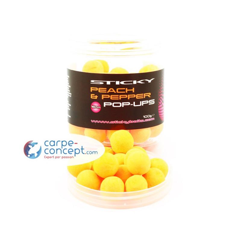 STICKY BAITS Hi-attract pop-up Peach & Pepper