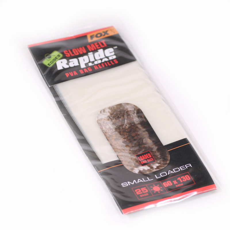 FOX Edges Rapide Solid Pva Bag Slow melt 75X175mm