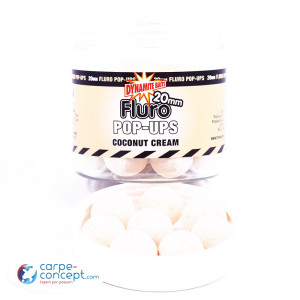 DYNAMITE BAITS Fluro pop-ups & dumbell Coconut cream 10mm