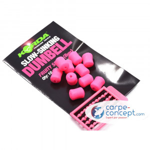 KORDA Appâts artificiels Slow Sinking Dumbell Fruity Squid (8 mm)